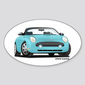 2002 03 04 05 T Bird Blue Sticker (Oval)