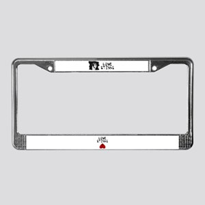 LOVE STINKS (GREAT DANE) License Plate Frame