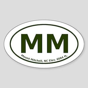 Mount Mitchell, NC Euro Sticker (Oval)
