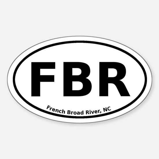 French Broad River Sticker (Oval)