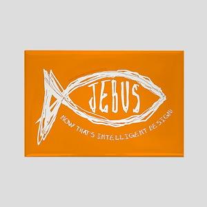 Jebus Fish Intelligent Design Rectangle Magnet