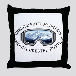 Crested Butte Mountain Resort - Mou Throw Pillow
