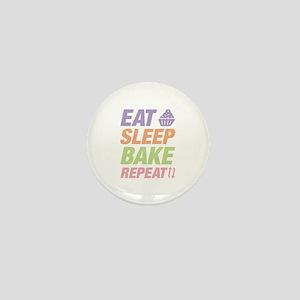 Eat Sleep Bake Repeat Mini Button