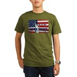 9-11-01 Never Forget Organic Men's T-Shirt (dark)