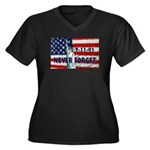 9-11-01 Never Forget Women's Plus Size V-Neck Dark