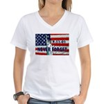 9-11-01 Never Forget Women's V-Neck T-Shirt