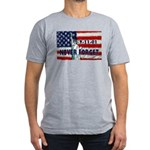 9-11-01 Never Forget Men's Fitted T-Shirt (dark)