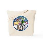 Xmas Magic / 3 Boxers Tote Bag