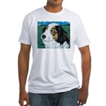 Max, the dog Fitted T-Shirt