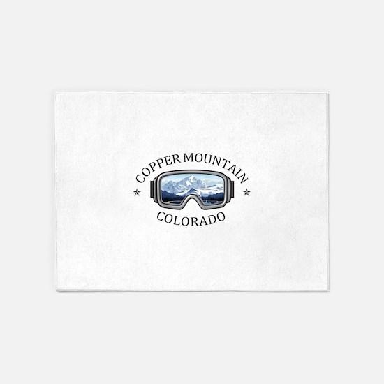 Copper Mountain Resort - Copper M 5'x7'Area Rug