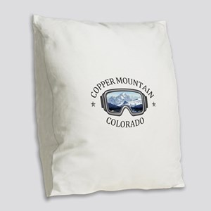 Copper Mountain Resort - Cop Burlap Throw Pillow