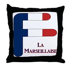F France Throw Pillow