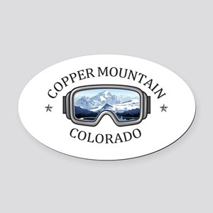 Copper Mountain Resort - Copper Oval Car Magnet
