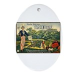 Uncle Sam Says Ornament (Oval)