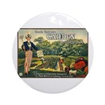 Uncle Sam Says Ornament (Round)