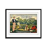 Uncle Sam Says Framed Panel Print