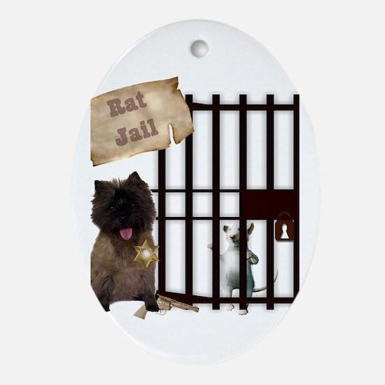 Cairn Terrier Earthdog Ornament (Oval)