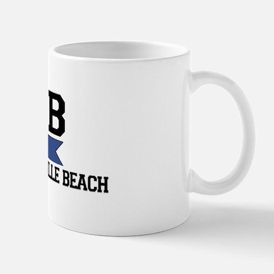 Wrightsville Beach NC - Nautical Flags Design Mug