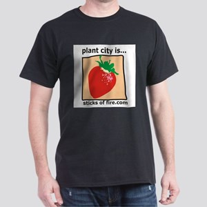 Plant City is...  Strawberrie Black T-Shirt