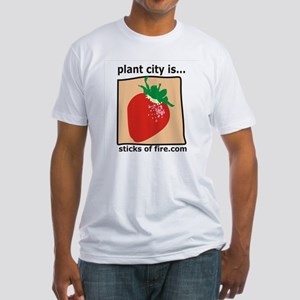 Plant City is...  Strawberrie Fitted T-Shirt
