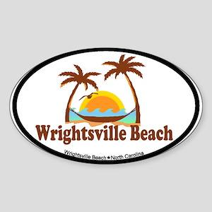 Wrightsville Beach NC - Palm Trees Design Sticker
