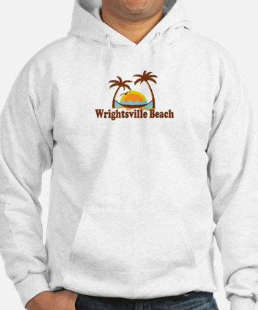 Wrightsville Beach NC - Palm Trees Design Hoodie