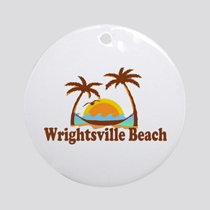 Wrightsville Beach NC - Palm Trees Design Ornament