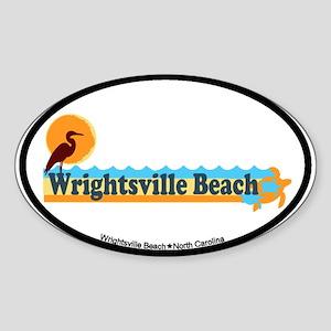 Wrightsville Beach NC - Beach Design Sticker (Oval