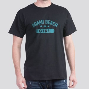 Miami Beach Girl Dark T-Shirt