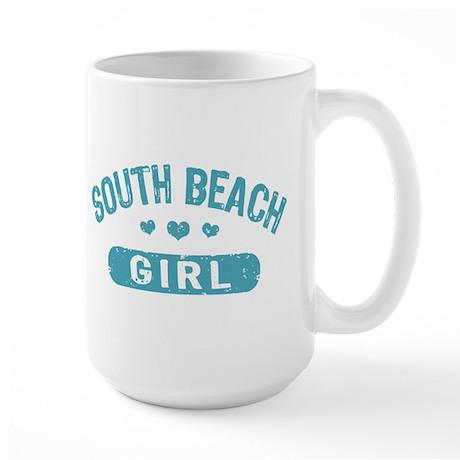 South Beach Girl Large Mug