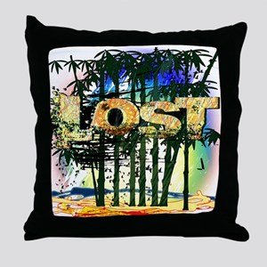 Lost Bamboo Jungle Throw Pillow