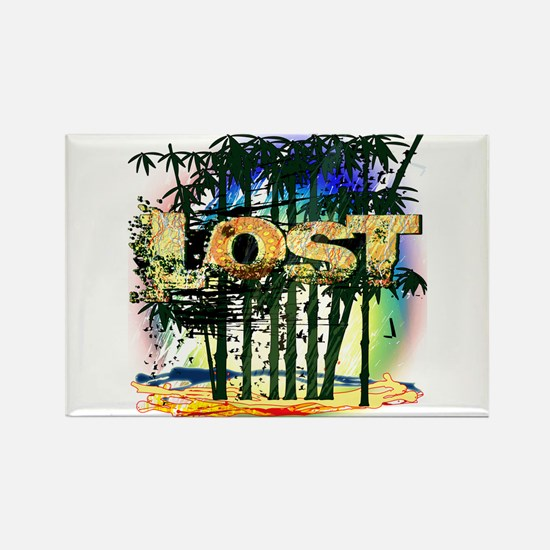 Lost Bamboo Jungle Rectangle Magnet