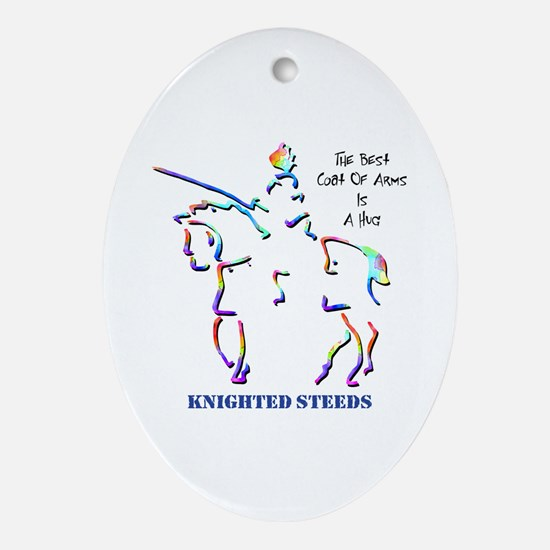 Knighted Steeds Oval Ornament