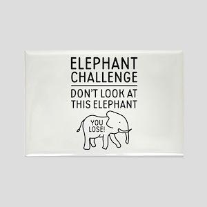 Elephant Challenge Rectangle Magnet