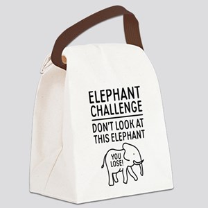 Elephant Challenge Canvas Lunch Bag