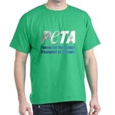 PETA Logo Dark T-Shirt