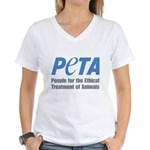 PETA Logo Women's V-Neck T-Shirt
