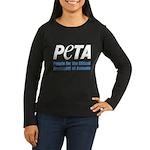 PETA Logo Women's Long Sleeve Dark T-Shirt
