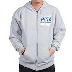 PETA Logo Zip Hoodie