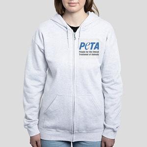 PETA Logo Women's Zip Hoodie