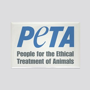 PETA Logo Rectangle Magnet