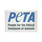PETA Logo Rectangle Magnet