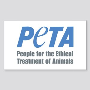 PETA Logo Sticker (Rectangle)