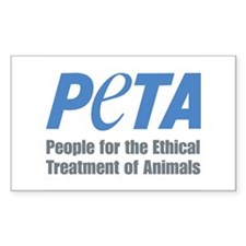 PETA Logo Sticker (Rectangle)