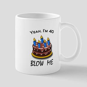 40th Birthday Cake Mugs