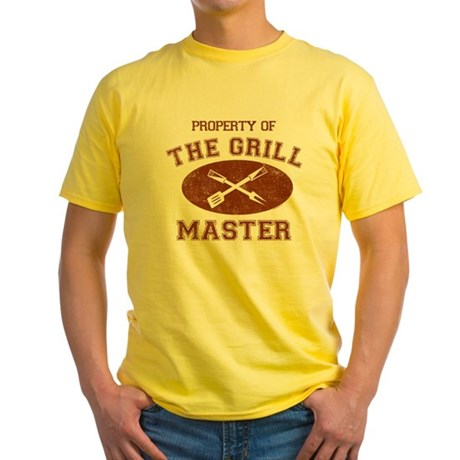Property of Grill Master Yellow T-Shirt