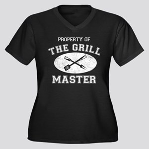 Property of Grill Master Women's Plus Size V-Neck
