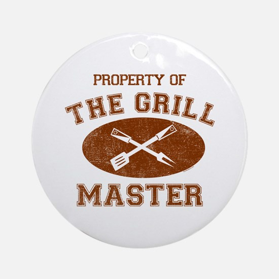 Property of Grill Master Ornament (Round)