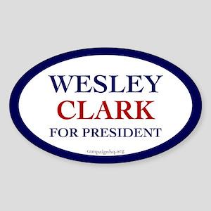 Wesley Clark for President Oval Sticker