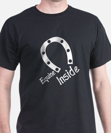 Equine inside furry black shirt
